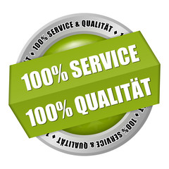 button 100% service qualität 1