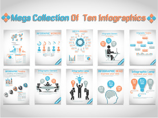 MEGA COLLECTION OF TEN INFOGRAPHIC BUSINESS