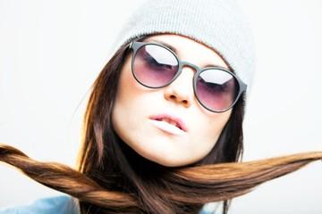 Fashion portrait, stylish young woman