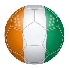 Ballon de football aux couleurs de la Côte d'Ivoire