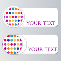 Set of colored bookmarks