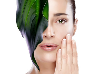Beautiful Spa Girl. Skincare concept