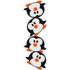 Lustiger Pinguin Turm Muster Süß Niedlich