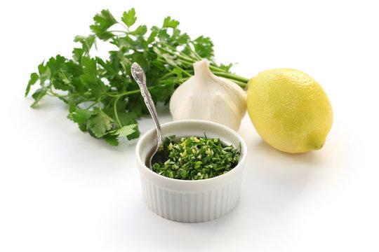 gremolata, italian chopped herb condiment