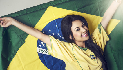 Happy Brazil soccer fan