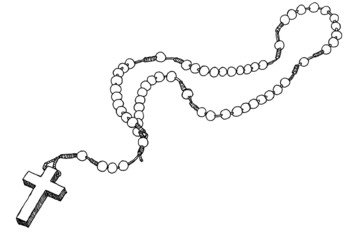 Hand drawn chaplet.