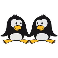 2 Süße Pinguine Liebespaar Verliebt Paar Liebe