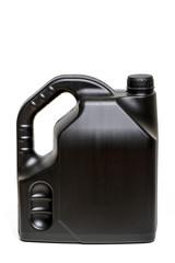 black plastic container of car oil