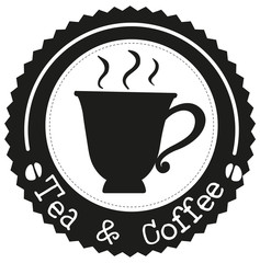 A tea and coffee label
