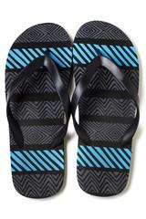 pair of beach sandals
