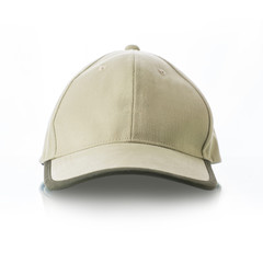 Cap on white