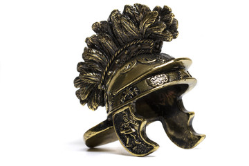 small miniature roman helmet