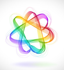 Abstract colorful background with Star infinite loop