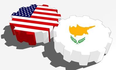 usa and cyprus national flags