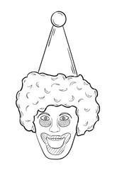 head of the clown