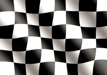 Black and White Racing Flag Waving