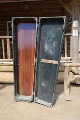 Coffin in wild west town