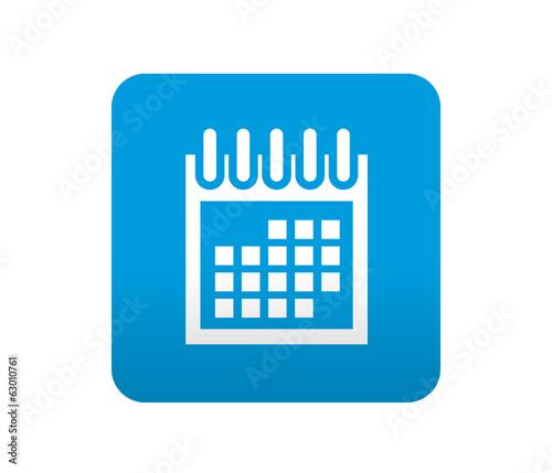 Simbolo De Calendario.Etiqueta Tipo App Azul Simbolo Calendario Stock Photo And
