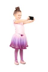 Little ballerina taking a selfie