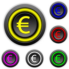 Euro buttons set