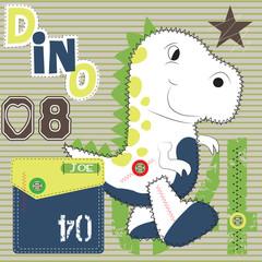 cute dinosaur vector illustration