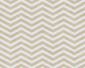 Beige and White Zigzag Textured Fabric Background