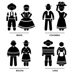 South America National Traditional Costume Clothing