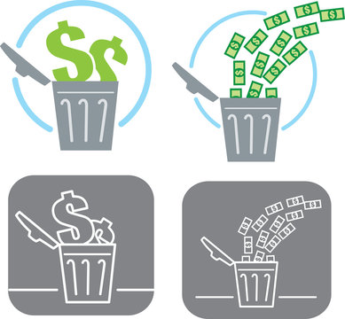 Wasting money icon