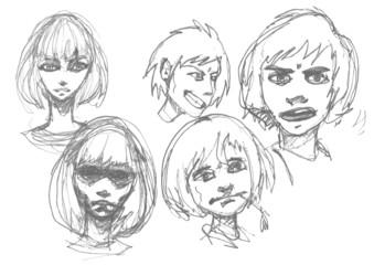 Manga sketch.