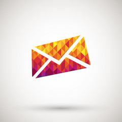 mail icon with colorful diamond