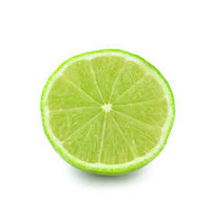 half lime on white background