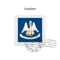 State of Louisiana flag postage stamp.