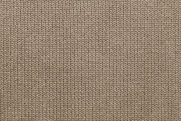 texture of knitted brown fabric