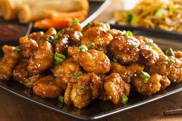 Asian Orange Chicken with Green Onions