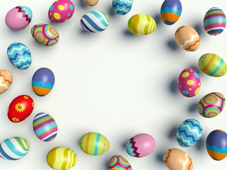 Group of colorful Easter eggs.