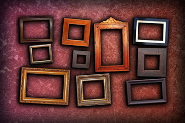 beautiful backdrop with vintage frames