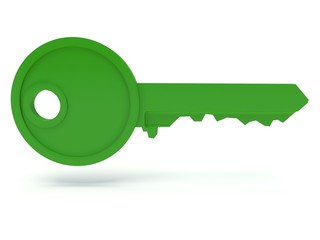 Green key. 3d Render