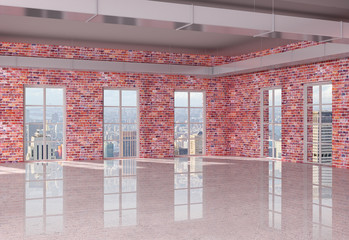 Fototapete - red brick loft