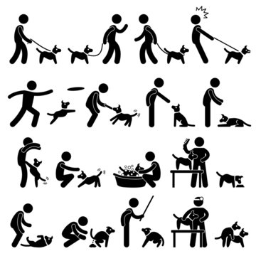 Man and Dog Training Pet