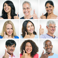 Multi-Ethnic Group Of People Giving Thumbs Up