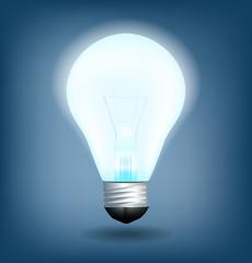 Lightbulb. Light is on