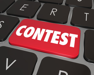 Contest Computer Key Button Enter Jackpot Prize Drawing Online