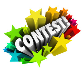 Contest Word Stars Fireworks Exciting Raffle Drawing News