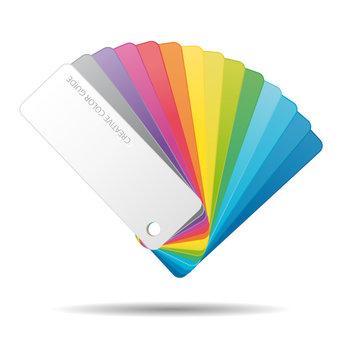 Color guide icon.
