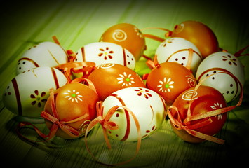 Easter decor. Photo in retro style
