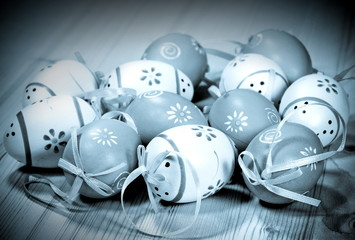 Easter eggs. Photo in retro style