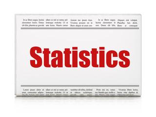 Business concept: newspaper headline Statistics