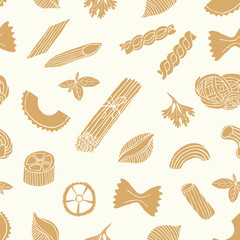 Pasta seamless background