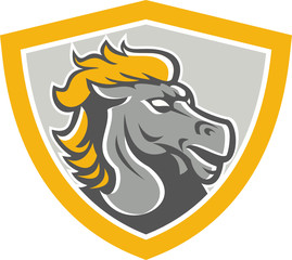 Bronco Horse Head Shield