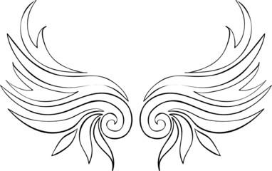 abstrakte Flügel Tattoo